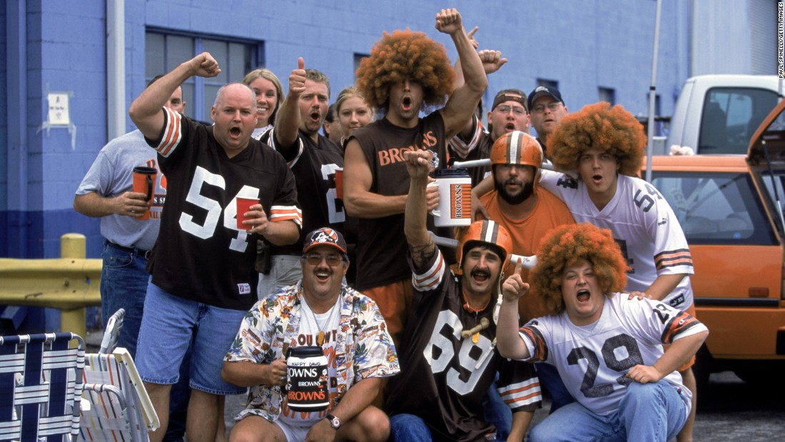 Snacks and beverages? Check. Funny wigs? Check. Team shirts/cups/flags? Yep. OK, sports fans, now all you need is the back of a vehicle, a few friends, and a few hours before the big game, and you're ready for a tailgating party - just like these Cleveland Browns fans in 2002. Here's a look at how tailgating has evolved over the years:
