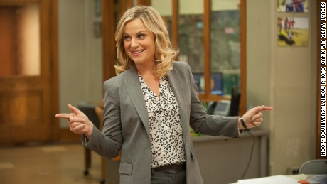 "PARKS AND RECREATION -- ""Galentine's Day"" Episode 617 -- Pictured: Amy Poehler as Leslie Knope -- (Photo by: Colleen Hayes/NBC/NBCU Photo Bank via Getty Images)"
