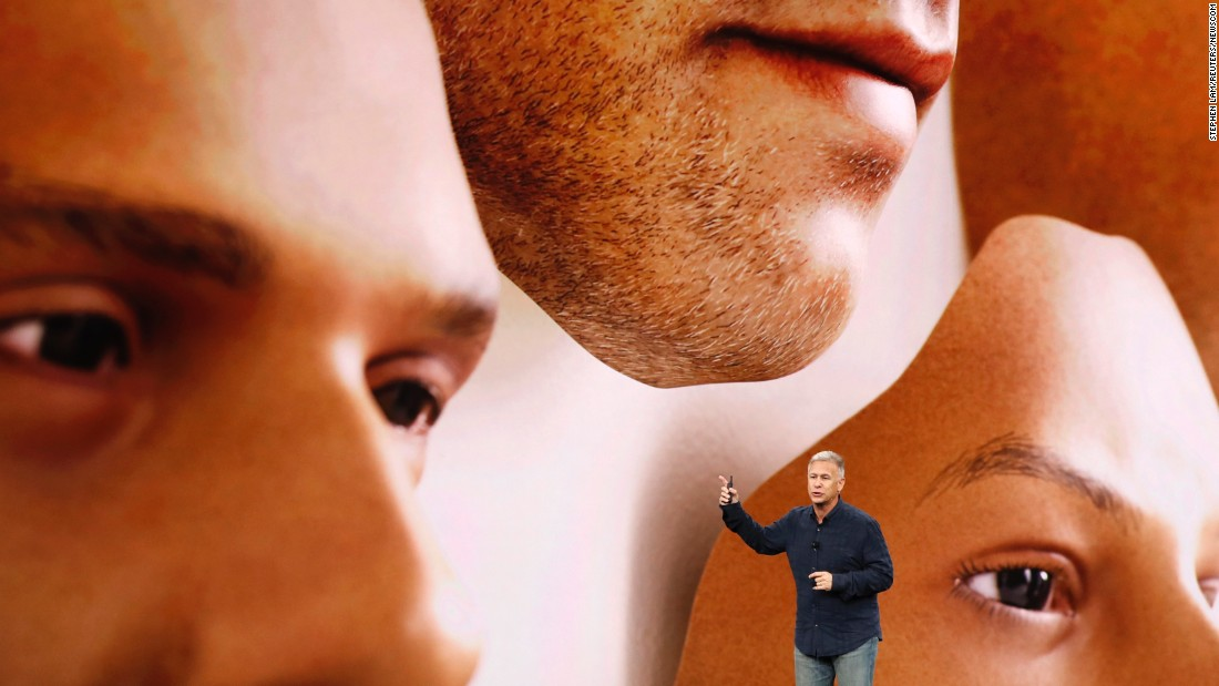 "Phil Schiller, Apple's senior vice president of worldwide marketing, introduces the iPhone X during a launch event in Cupertino, California, on Tuesday, September 12. <a href=""http://money.cnn.com/2017/09/12/technology/gadgets/apple-iphone-event/index.html"" target=""_blank"">The reveal</a> of the new phone, which uses face-recognition software to log the user in, comes 10 years after the launch of the first iPhone."