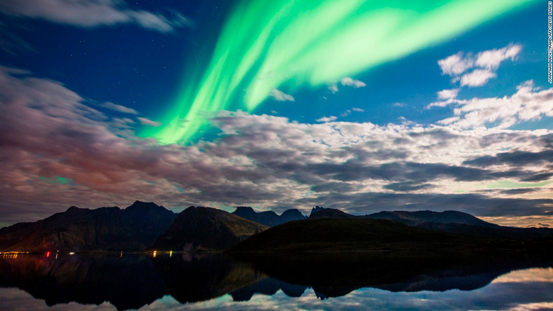 "The Northern Lights illuminate the sky over Torsfjorden, Norway, on Friday, September 8. <a href=""http://www.cnn.com/travel/article/best-northern-lights/index.html"" target=""_blank"">11 places to see the aurora borealis</a>"