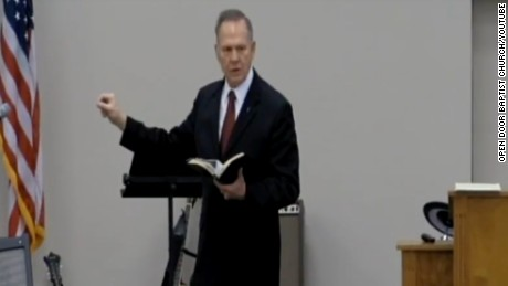 Roy Moore speaks a the Open Door Baptist Church on February 5, 2017.