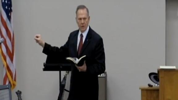 Roy Moore speaks a the Open Door Baptist Church on February 5, 2017.
