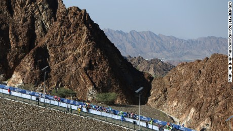The rugged landscape of Hatta, seen in 2015 during the cycling Dubai Tour.