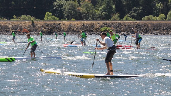 There is no governing body to make rules for SUP races but hundreds are still organized every year, including the annual Columbia Gorge Paddle Challenge.