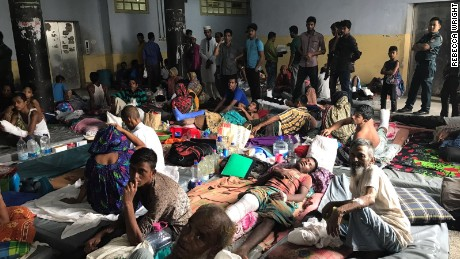 Conditions at the Chittagong Hospital are strained to capacity due to the steady new influx of refugee patients.