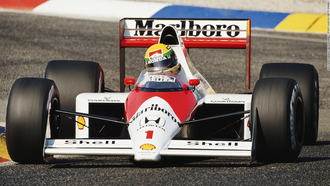 Prost partnered Ayrton Senna (pictured) for two of those championship-winning years.