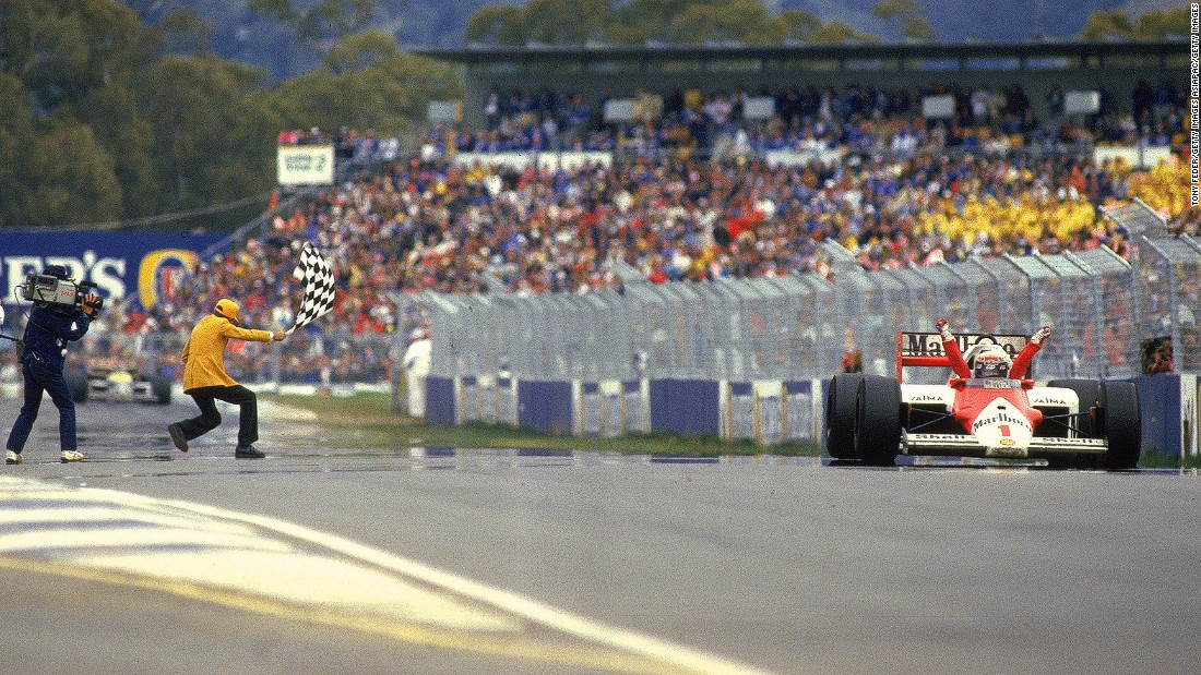 McLaren and Honda were hoping to rekindle former successes on the track. From 1988 to 1991, the pairing yielded four consecutive F1 constructors' titles. In this picture, France's Alain Prost celebrates taking the checkered flag at the 1988 Australian Grand Prix in Adelaide.