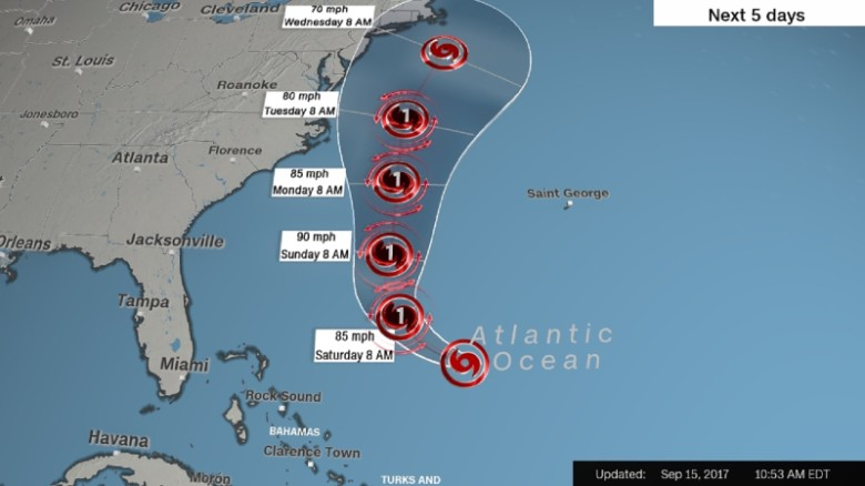 Hurricane Jose may threaten northeastern US