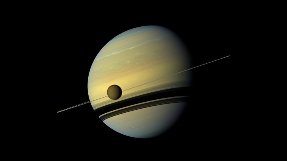 Cassini took this image of Saturn