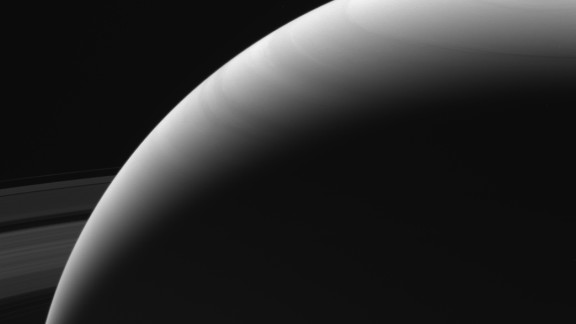 Cassini captured this image of Saturn