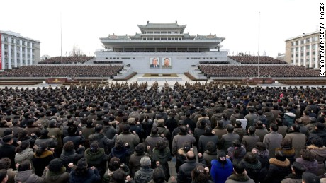 "This picture taken on January 5, 2017 and released by North Korea's official Korean Central News Agency (KCNA) on January 6, 2017 shows a mass rally taking place at Kim Il Sung Square in Pyongyang. Thousands of North Koreans have rallied in Pyongyang, chanting communist slogans and vowing support for leader Kim Jong-Un, who in his New Year's message announced plans to test-fire a ballistic missile capable of reaching the US mainland. / AFP / KCNA VIA KNS / STR / South Korea OUT / REPUBLIC OF KOREA OUT   ---EDITORS NOTE--- RESTRICTED TO EDITORIAL USE - MANDATORY CREDIT ""AFP PHOTO/KCNA VIA KNS"" - NO MARKETING NO ADVERTISING CAMPAIGNS - DISTRIBUTED AS A SERVICE TO CLIENTS THIS PICTURE WAS MADE AVAILABLE BY A THIRD PARTY. AFP CAN NOT INDEPENDENTLY VERIFY THE AUTHENTICITY, LOCATION, DATE AND CONTENT OF THIS IMAGE. THIS PHOTO IS DISTRIBUTED EXACTLY AS RECEIVED BY AFP.  /         (Photo credit should read STR/AFP/Getty Images)"