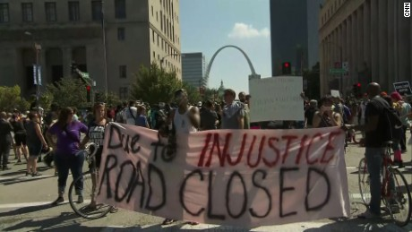 Protesters in St. Louis, after Stockley's acquittal.