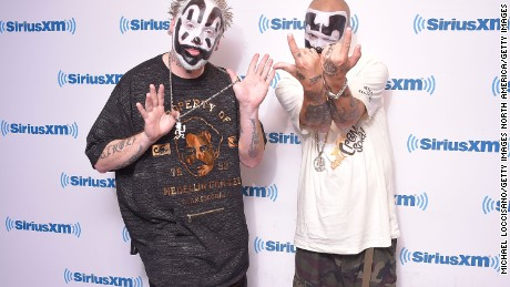 NEW YORK, NY - SEPTEMBER 14:  Violent J (L) and Shaggy 2 Dope of Insane Clown Posse visit SiriusXM Studios on September 14, 2017 in New York City.  (Photo by Michael Loccisano/Getty Images)