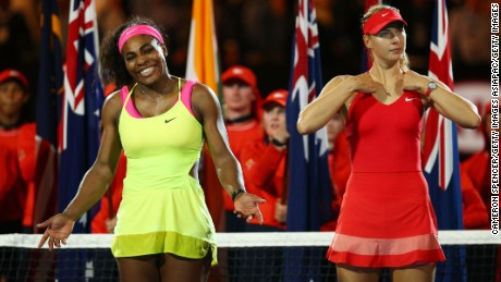 Serena Williams beat Maria Sharapova in 2015, but will the Russian win in the American's absense?