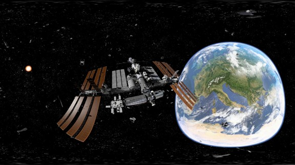 Schools around the world are introducing virtual reality (VR) applications. Students can explore faraway countries or take a virtual trip to the International Space Station, as in this scene produced by Discovery VR.