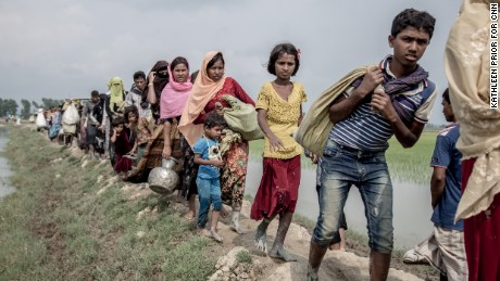 Tens of thousands of Rohingya refugees continue to arrive in Bangladesh by the day.