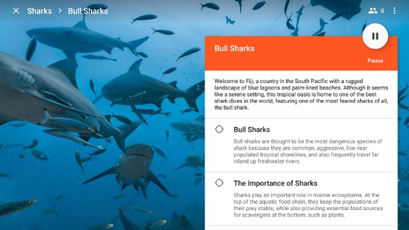 Others may choose to swim with bull sharks in Fiji, using one of Google's 600 different expeditions.