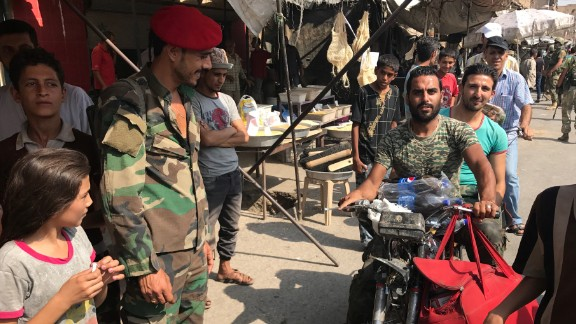 The market in central Deir Ezzor is busy and well-stocked with goods again after ISIS' ouster.