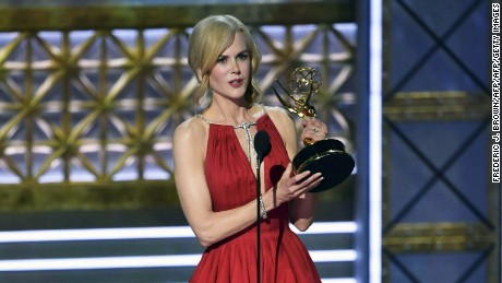 Nicole Kidman accepts the award for outstanding lead actress in a limited series for 'Big Little Lies.'