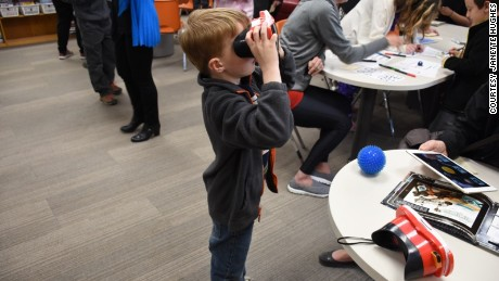 At a makerspace in Ontario, VR is used as a tool for learning.