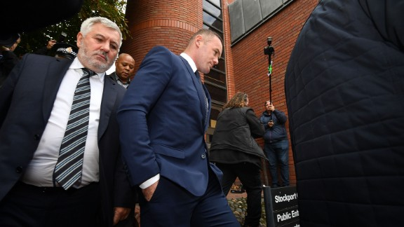 Wayne Rooney arrives at Stockport Magistrates Court on Monday
