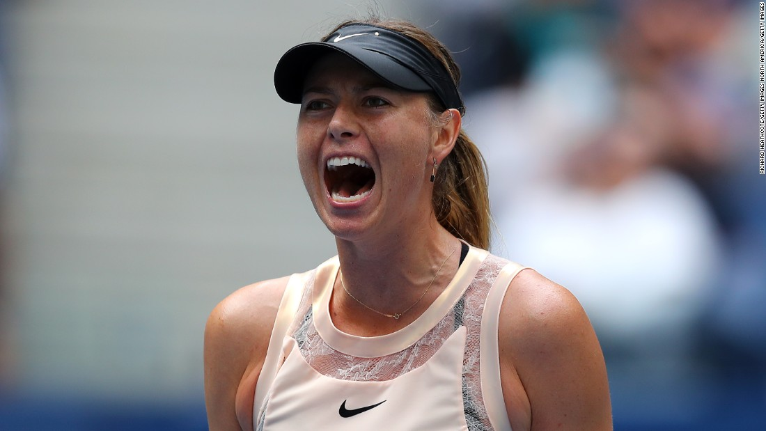 Sharapova was knocked out in round 16 of the US Open -- her first grand slam since her return from a drugs ban
