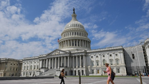 The US Capitol is seen on August 24, 2017 in Washington, DC.
