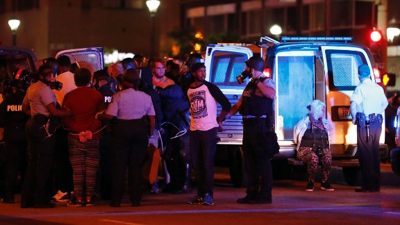 Police make multiple arrests in St. Louis after protests Sunday.