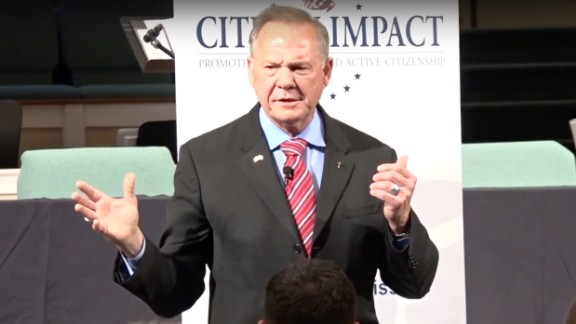 Roy Moore speaks at Citizens Impact USA.