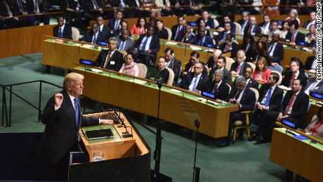 Trump at UN threatens to 'totally destroy' North Korea