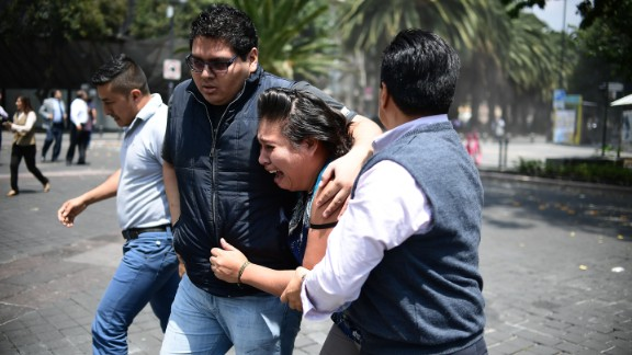 An earthquake rattles Mexico City last week moments after an earthquake drill was held in the capital.