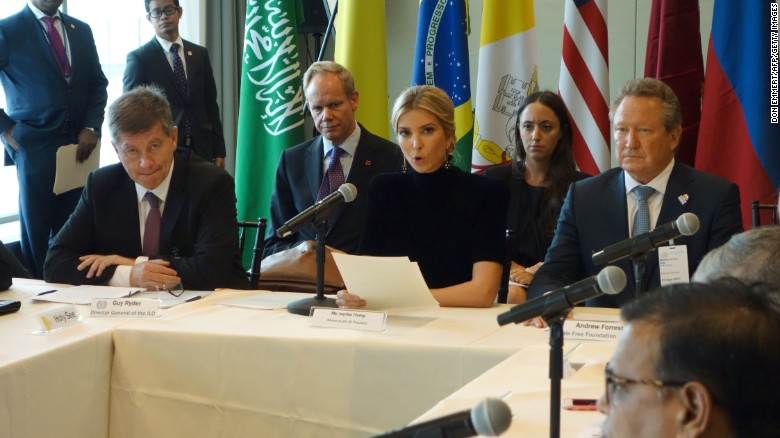 Ivanka Trump: Human trafficking unacceptable