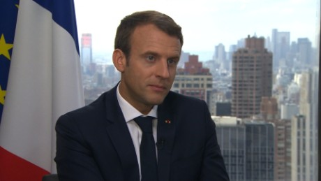Citing North Korea, Macron calls on Trump to honor Iran nuclear deal