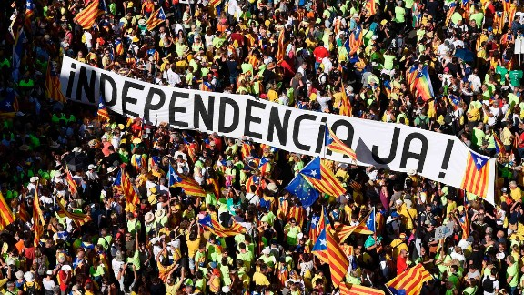 Hundreds of thousands have attended rallies to demand their region break from Spain in recent weeks.