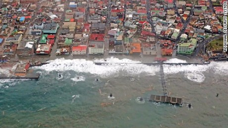 A Regional Security System survey overflight on Tuesday shows the devastation Hurricane Maria wrought on the Caribbean island of Dominica.