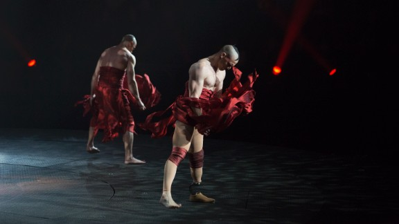 """Andrew Montgomery is the first amputee to perform in the show """"Le Rêve - The Dream"""" in Las Vegas."""