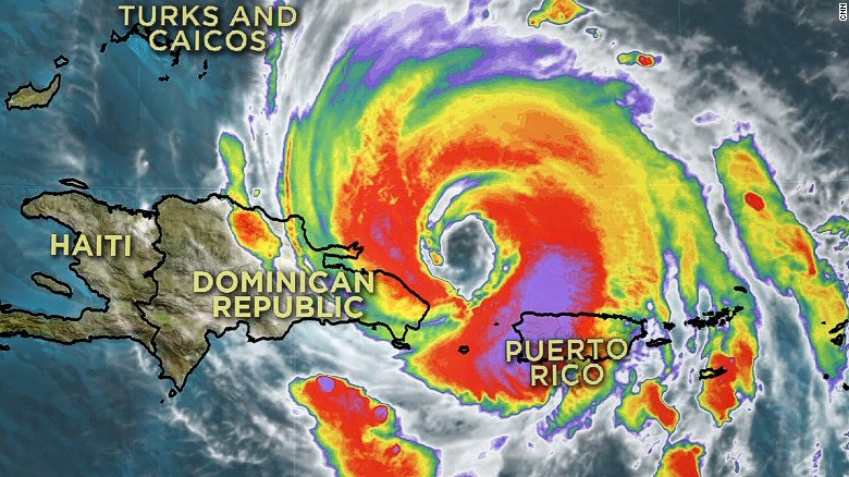Hurricane Maria strengthens to Category 3