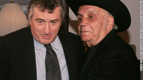 "De Niro and LaMotta attend a special screening of ""Raging Bull"" to celebrate its 25th anniversary in 2005 in New York."