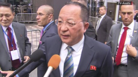 Ri Yong Ho: Trump's threats 'a dog's barking'