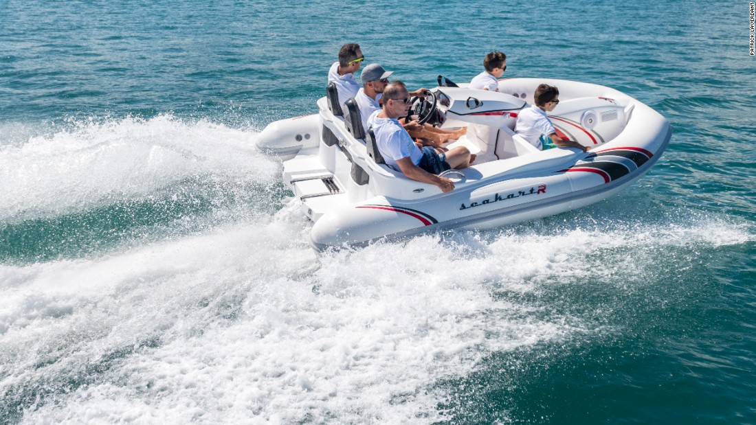 The Seakart 335 is designed for an array of clients; from the family after a fun weekend to the superyacht owner looking to add to his collection of toys. The boat's main lure is its combination of the speed and excitement of a jet ski with the safety and comfort of an inflatable boat.