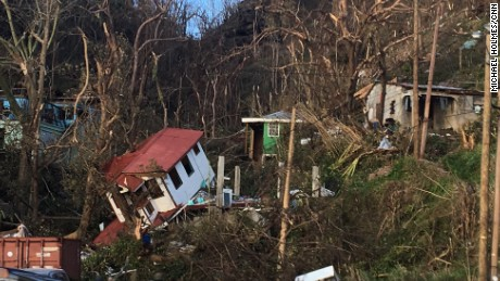 Image of Dominica after Hurricane Maria.