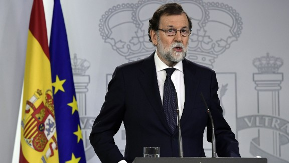 "Spain's PM has called on separatists to stop the ""escalation of radicalism and disobedience."""