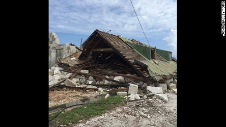 Hurricane Maria leaves a house destroyed in the Turks and Caicos Islands.