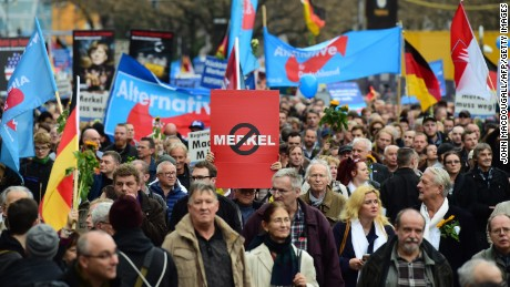 Support for the AfD grew quickly following the arrival of more than a million refugees in Germany in 2015.