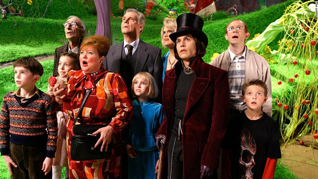 "<strong>""Charlie and the Chocolate Factory""</strong>: Johnny Depp takes on an iconic role in this beloved film about a boy who wins a tour at a candy factory.  <strong>(Netflix)  </strong>"