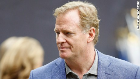 NFL Commissioner Roger Goodell attends the game between the Jacksonville Jaguars and Houston Texans at NRG Stadium on September 10, 2017 in Houston, Texas.