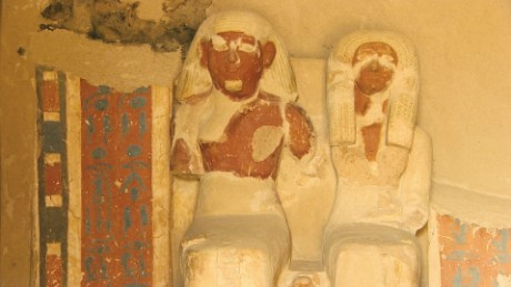 The tomb is the last resting place of husband and wife Amenemhat -- a goldsmith -- and Amenhotep.