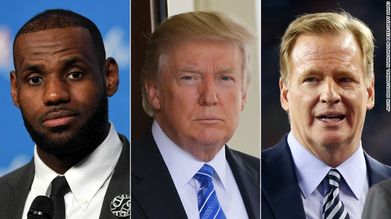 Trump vs. the NFL and NBA: War of words