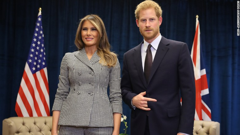 Melania Trump meets Trudeau, Prince Harry