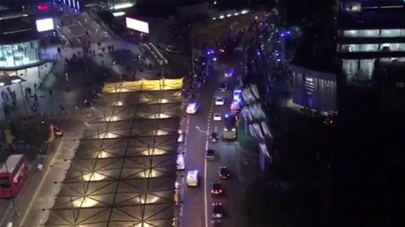 Emergency responders rushed to treat injured people in East London on Saturday night.
